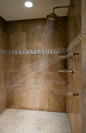 Shower plumbing by Palmerio Plumbing LLC