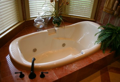 Bathtub plumbing by Palmerio Plumbing LLC.